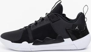 Czarne buty sportowe Jordan ze skóry zoom sznurowane