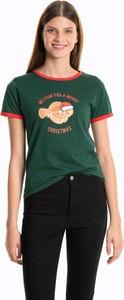 T-shirt Gate z bawełny w młodzieżowym stylu