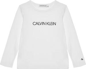 Bluzka dziecięca Calvin Klein z długim rękawem z jeansu