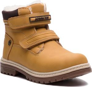 Brązowe buty dziecięce zimowe Action Boy