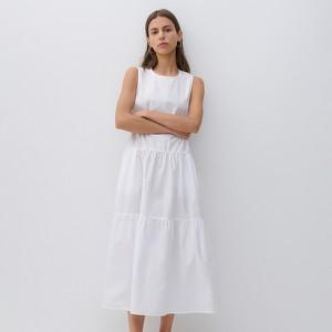 Sukienka Reserved maxi z okrągłym dekoltem bez rękawów