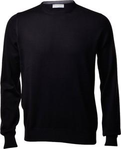 Czarny sweter Gran Sasso z wełny z okrągłym dekoltem w stylu casual