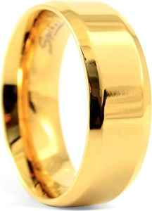 Trendhim Stalowa obrączka w kolorze złota