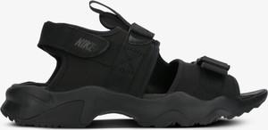 Czarne buty letnie męskie Nike ze skóry