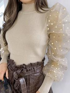 Bluzka Elegrina z bawełny z długim rękawem