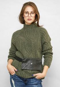 Zielony sweter Freeshion w stylu casual