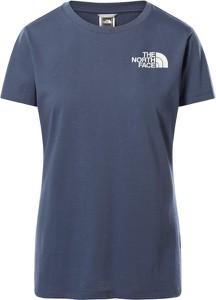 Niebieska bluzka The North Face w sportowym stylu z okrągłym dekoltem