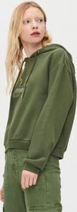 Zielona bluza Cropp krótka