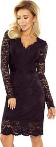 Sukienka NUMOCO z dekoltem w kształcie litery v z długim rękawem mini