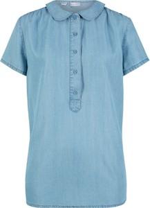 Bluzka bonprix bpc bonprix collection z krótkim rękawem z kołnierzykiem w stylu casual