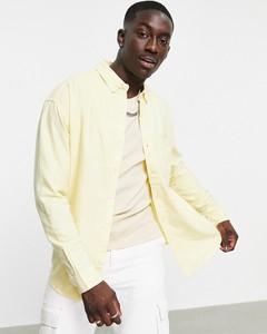 Koszula Asos z klasycznym kołnierzykiem z bawełny z długim rękawem