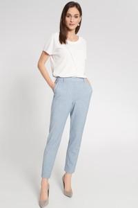 Niebieskie spodnie QUIOSQUE w stylu klasycznym
