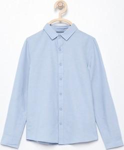 Niebieska koszula dziecięca Reserved z bawełny