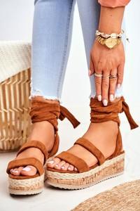 Brązowe sandały Fs1 z klamrami