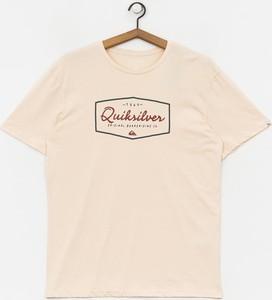 T-shirt Quiksilver z żakardu z krótkim rękawem
