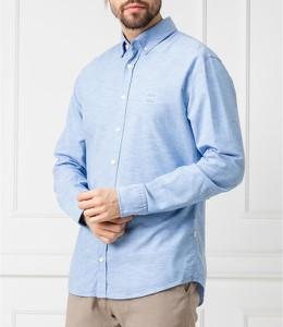 Niebieska koszula Hugo Boss z kołnierzykiem button down z długim rękawem
