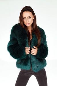 Zielona kurtka Smoke Furs