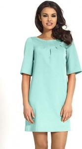 Sukienka Kartes-moda mini z okrągłym dekoltem