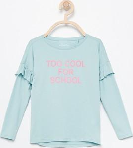 Miętowa bluzka dziecięca Reserved