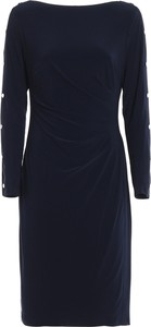 Niebieska sukienka Ralph Lauren z długim rękawem
