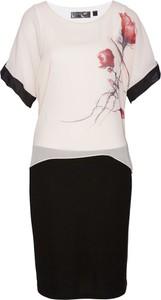 Sukienka bonprix bpc selection z szyfonu z krótkim rękawem
