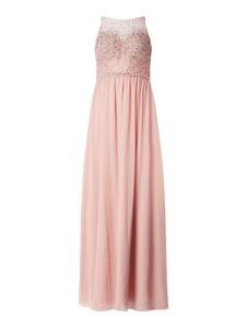 Różowa sukienka Laona z okrągłym dekoltem maxi bez rękawów