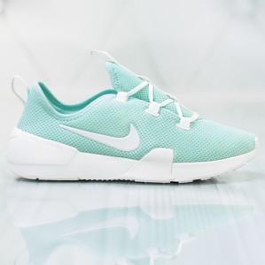 Miętowe buty sportowe Nike na koturnie
