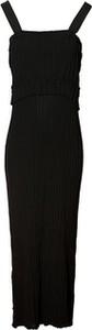 Sukienka Stefanel na ramiączkach maxi z dekoltem w kształcie litery v