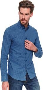 Niebieska koszula Top Secret z kołnierzykiem button down