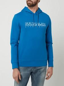 Niebieska bluza Napapijri w młodzieżowym stylu z nadrukiem
