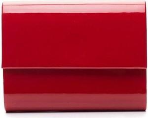 Czerwona torebka Kemer do ręki w stylu glamour ze skóry ekologicznej