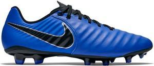 Niebieskie buty sportowe Nike w sportowym stylu ze skóry