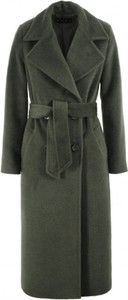 Zielony płaszcz AGGI w stylu casual