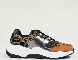 Buty sportowe Enza Nucci na platformie ze skóry sznurowane