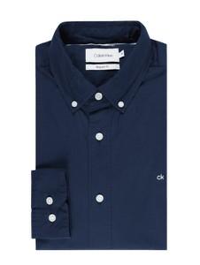 Granatowa koszula Calvin Klein z bawełny z długim rękawem