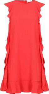 Czerwona sukienka Red Valentino z okrągłym dekoltem