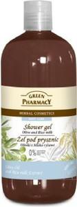Green Pharmacy, żel pod prysznic, oliwki & mleczko ryżowe