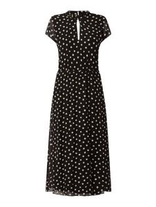 Czarna sukienka S.Oliver Black Label z krótkim rękawem z dekoltem w kształcie litery v maxi