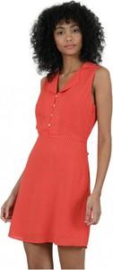 Czerwona sukienka MOLLY BRACKEN z dekoltem w kształcie litery v