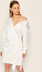 Sukienka Guess mini koszulowa z długim rękawem