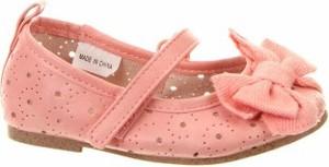 Różowe balerinki Zy na rzepy