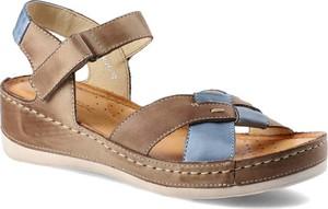Brązowe sandały Wasak