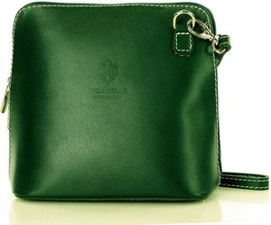 Zielona torebka Vera Pelle ze skóry średnia