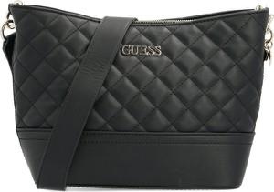 Czarna torebka Guess na ramię ze skóry