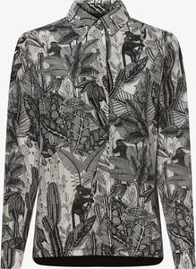 Koszula MaxMara z jedwabiu z kołnierzykiem