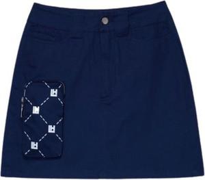 Niebieska spódnica LOCAL HEROES z bawełny mini