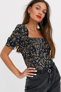 Granatowa bluzka Vero Moda Petite w stylu boho