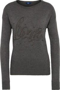 Czarny sweter Tom Tailor w stylu casual z wełny