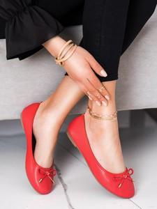 Czerwone baleriny Czasnabuty w stylu casual