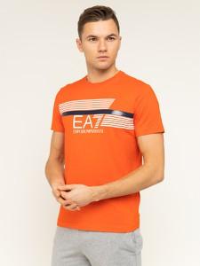Pomarańczowy t-shirt Emporio Armani